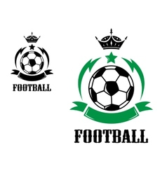 Football or soccer crests and emblems vector image vector image