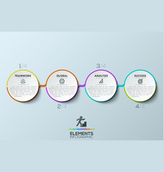 modern infographic design template 4 connected vector image