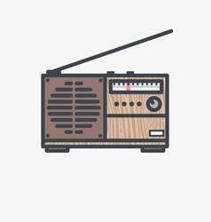 retro fm radio receiver vector image