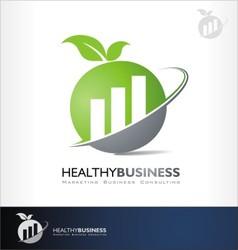 accounting logo symbol investment symbol vector image vector image