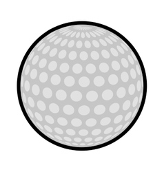 Ball golf sport play icon vector