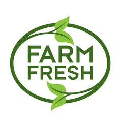farm fresh logo vector image