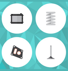 Flat parts set of gasket heater crankshaft and vector