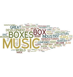 The music box industry then and now text vector