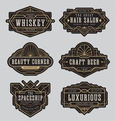 Vintage frame label design vector image