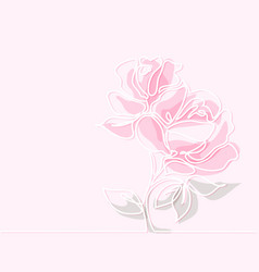 drawing of beautiful rose flower vector image vector image