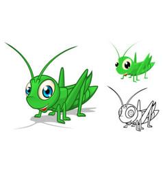Grasshopper Cartoon Character vector image vector image