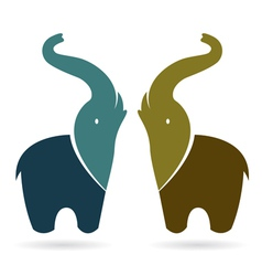 image of an elephant vector image vector image