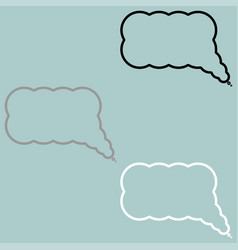 symbol comment or thought icon vector image