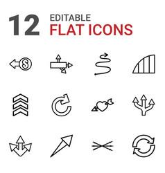 12 arrows icons vector