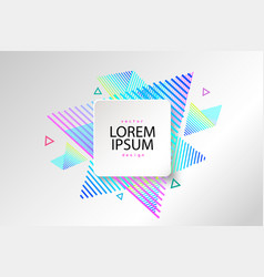 Abstract geometric pattern and vector