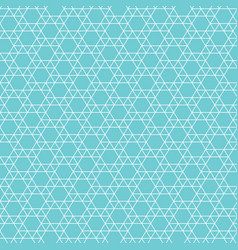 Abstract jewish star pattern vector
