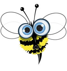 Angry buzzy bee vector