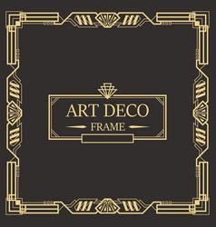 Art deco border frame 06 vector