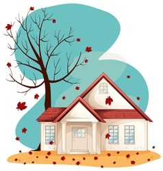 Autumn Suburban house vector image
