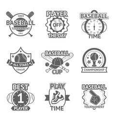 Baseball emblems set vector