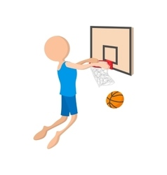 Basketball cartoon icon vector image