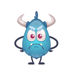 beast cartoon icon vector image