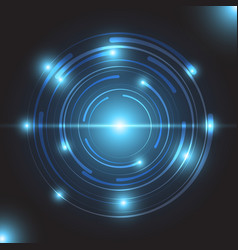 beautiful blue glowing circle light vector image