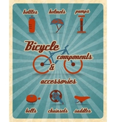 Bicycle parts poster vector