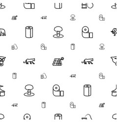 Big icons pattern seamless white background vector