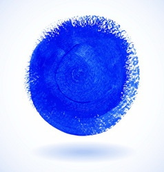 Blue Circle Watercolor Banner vector image vector image