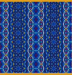 blue striped carpet border design vector image