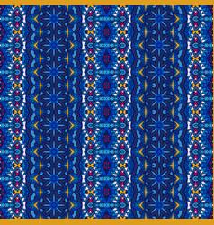 blue striped carpet border design vector image