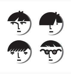 Boy Avatar Icons vector image