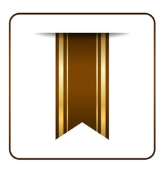 Brown bookmark banner Color gold vector