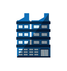 Building corporate shadow icon vector