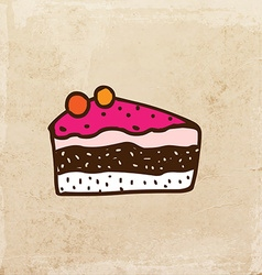 Cake Slice Cartoon vector image