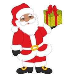 Christmas African American Santa Claus vector image
