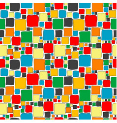 colorful seamless with squares vector image