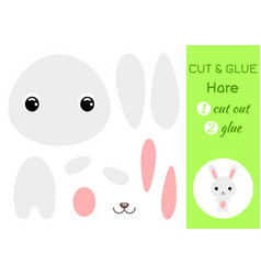cut and glue bahare education developing vector image