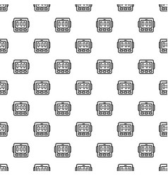 digital kitchen timer pattern seamless vector image