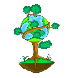 Earth day design tree world vector