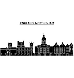 England nottingham architecture city vector