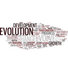 Evolve word cloud concept vector