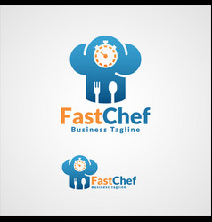 fast chef - professional food maker or fast food vector image