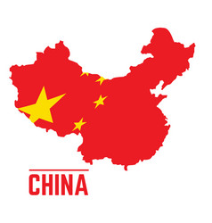 flag and map of china vector image