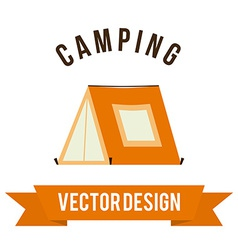 forest camping design vector image vector image