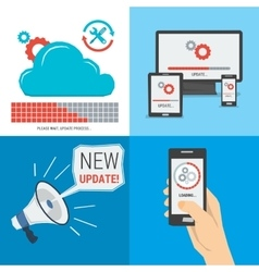 Four concepts - UPDATE vector image