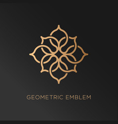 Geometric logo vector