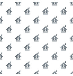 green house pattern seamless vector image
