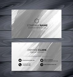 Grunge style business card design template vector