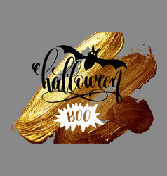 halloween boo - hand lettering holiday design on vector image