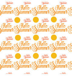 Hello summer sun shine seamless pattern vector