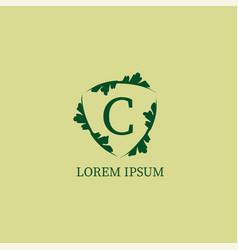 Letter c alphabetic logo design template isolated vector