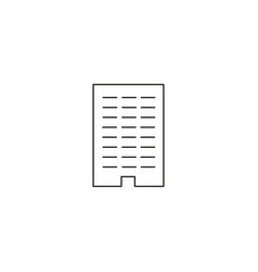 line office building icon vector image